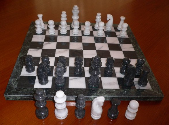 No 7166 Marble Chess Set and Board