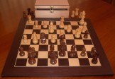 No A106EW Combo. Sheesham Chess Set with Board and Chest. 95mm King
