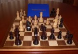 No A207EW Combo. Rosewood Chess Set with Board and Box