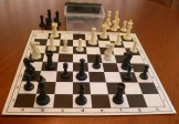 No 7098 Combo. 'Premier' Plastic Chess Set with Folding Board and Container