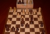 No A103A Combo. Sheesham Chess Set with Board and Chest