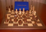 No A104A Combo. Sheesham Chess Set with Folding Board and Box