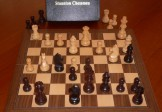No A204A Combo. Rosewood Chess Set with Folding Board and Box. 83mm King