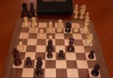 No A205 Combo. Rosewood Chess Set with Board and Box