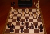 No A206 Combo. Rosewood Chess Set with Board and Box