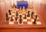 No A207B Combo. Rosewood Chess Set with Board and Box