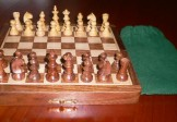 No G540-90 Magnetic Wood Chess Set. 45mm King