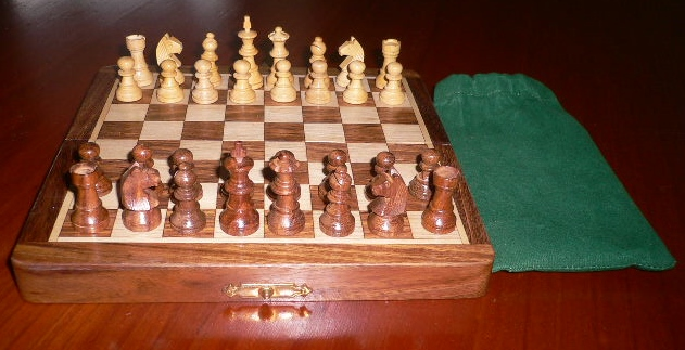 No G540-80 Magnetic Wood Chess Set. 38mm King