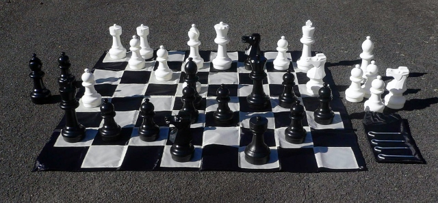 Awesome Patio Chess Set No 1272 Combo Garden And Patio Chess Set With Mat New .