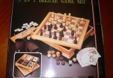 Seven in One Deluxe Wood Combination Game Set