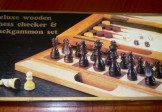 Three in One Deluxe Wood Combination Game Set