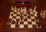 No A206AEW Combo. Rosewood Chess Set with Board and Chest. 95mm King
