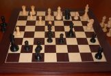 No A306TW Combo. Ebony Chess Set with Board and Carrycase. 95mm King