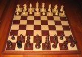 No A201 Combo. Rosewood Chess Set with Board and Box 63mm King