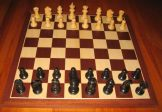 No A300 Combo. Ebony Chess Set with Board and Box. 52mm King