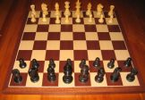 No A301 Combo. Ebony Chess Set with Board and Box. 63mm King