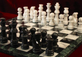 No 7166 Marble Chess Set and Board. 90mm King