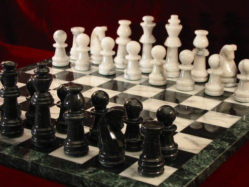 Marble Chess Set and Board. 105mm King